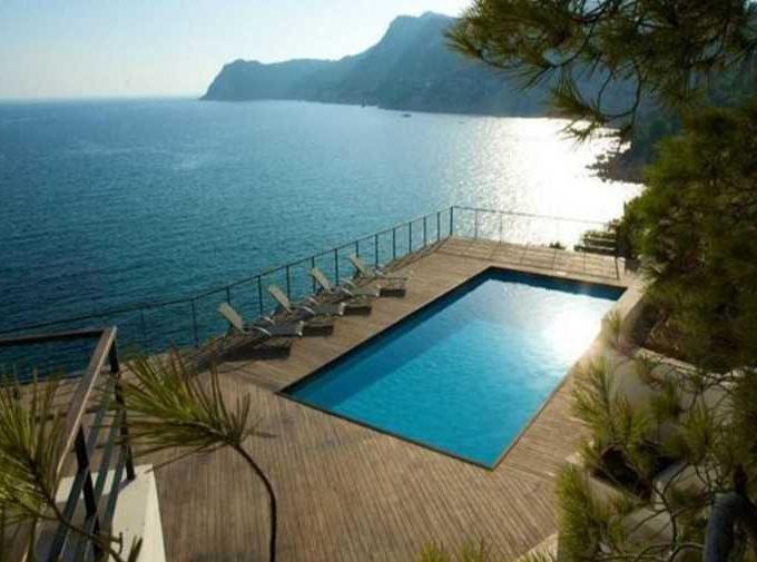 Villa de luxe 1ère ligne de mer avec piscine Ibiza
