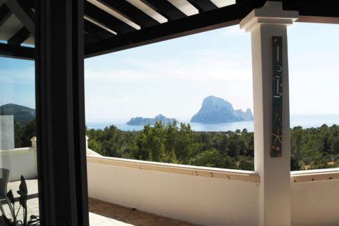 Villa piscine vue es vedra Ibiza