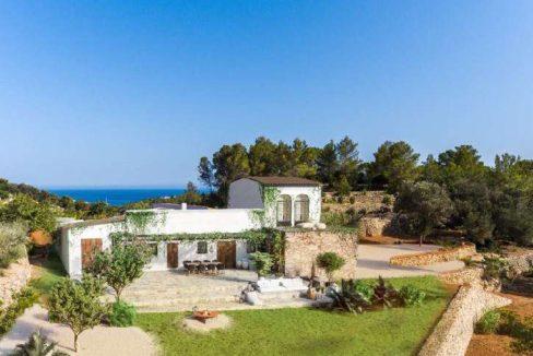 Finca Blakstad vue mer Ibiza