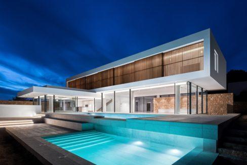 villa Ibiza vue mer avec piscine