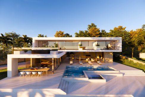 Projet de luxe avec piscine et vue mer à Ibiza